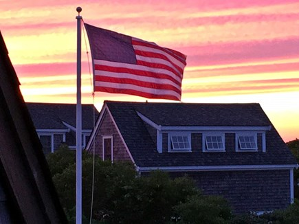 Tom Nevers Nantucket vacation rental - Stripes on Stripes: July 4th at dusk (from 2nd story deck)