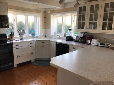 Tom Nevers Nantucket vacation rental - Kitchen with ocean views; fully equipped; access to 2nd fl deck
