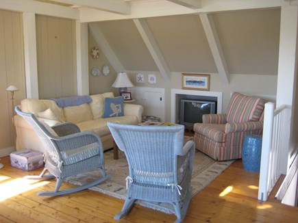 Tom Nevers Nantucket vacation rental - Living room with cable TV. Bright, airy space