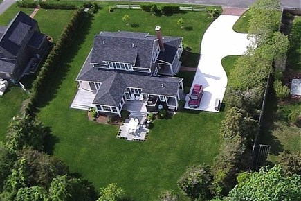 Nantucket town, West of town Nantucket vacation rental - Aerial view of this beautiful Nantucket home.