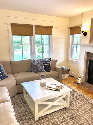 Nantucket town Nantucket vacation rental - Den and TV room include fireplace and pocket doors for privacy.