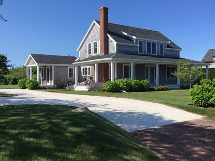 Nantucket town Nantucket vacation rental - Elegant wrap around covered porch and side entry into kitchen
