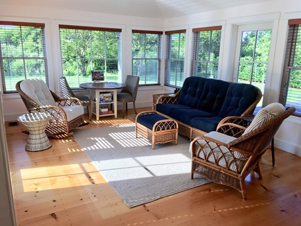 Nantucket town Nantucket vacation rental - Bright and cheerful sunroom overlooking patio and private yard