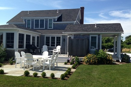 Nantucket town, West of town Nantucket vacation rental - Enjoy a summer bbq on the large stone patio