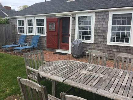 Siasconset, Nantucket Nantucket vacation rental - Back yard with patio & outdoor shower