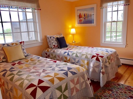 Madaket Nantucket vacation rental - First floor bedroom with two twin beds
