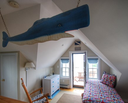 Madaket Nantucket vacation rental - Upstairs loft with 2 twin beds, private deck and water views