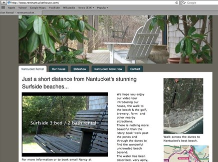 Surfside Nantucket vacation rental - Our house website
