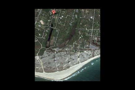 Surfside Nantucket vacation rental - Satellite view of our beach