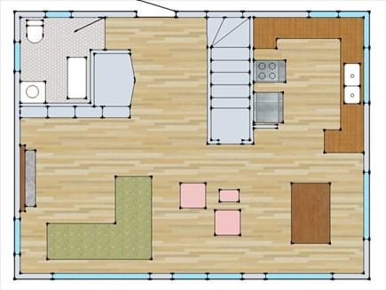 Surfside Nantucket vacation rental - Floorplan First Floor