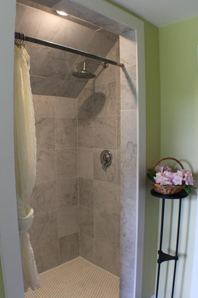Surfside Nantucket vacation rental - Master marble double shower