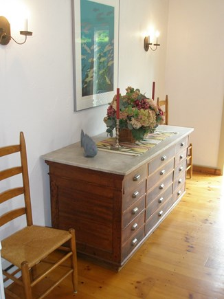 Siasconset Center Nantucket vacation rental - Dining room sideboard
