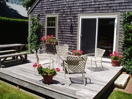 Siasconset Center Nantucket vacation rental - Sunny deck with dining area