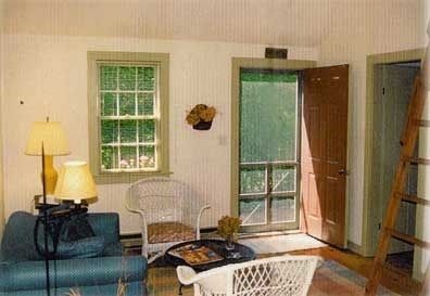 Siasconset Center Nantucket vacation rental - Living room and front entrance