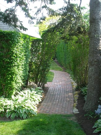Siasconset Center Nantucket vacation rental - Down a brick path leading to Etc.