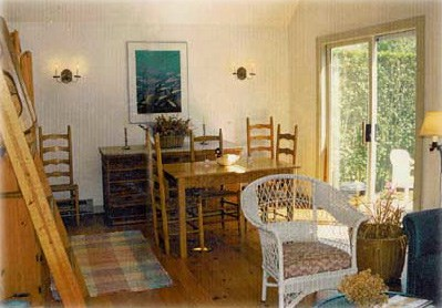 Siasconset Center Nantucket vacation rental - Dining area opens through sliders to the deck
