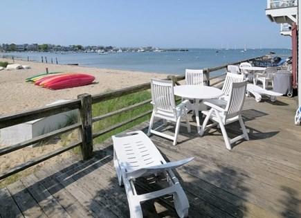 Nantucket town Nantucket vacation rental - Deck overlooking Nantucket Harbor on Francis St. Beach