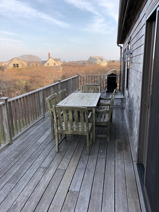Tom Nevers Nantucket vacation rental - Beautiful deck on upstairs level with view of Sankaty lighthouse