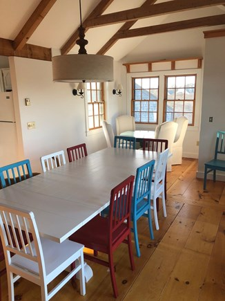 Tom Nevers Nantucket vacation rental - Dining room on the other side of fireplace. Two tables seat 14