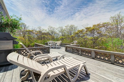 Tom Nevers, Nantucket Nantucket vacation rental - Bask in the sun's glow on the house's back deck