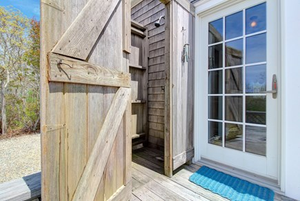 Tom Nevers, Nantucket Nantucket vacation rental - Use the outdoor shower to wash away saltwater from the beach