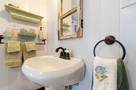 Tom Nevers, Nantucket Nantucket vacation rental - A small pedestal sink adds a quaint touch to the bathroom