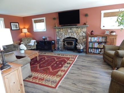 Surfside Nantucket vacation rental - Family room, large sectional couch, two recliners, arm chair