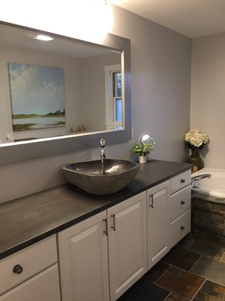 Surfside Nantucket vacation rental - Newly renovated master bathroom with jetted tub