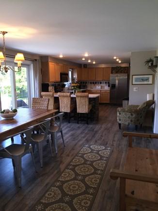 Surfside Nantucket vacation rental - Dining/kitchen with slider leading to back deck