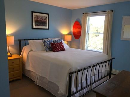 Surfside Nantucket vacation rental - Blue bedroom, queen bed