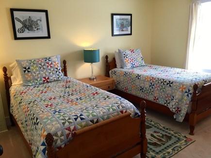 Surfside Nantucket vacation rental - Yellow bedroom, two twin beds