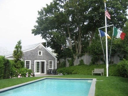 Nantucket town, Nantucket Nantucket vacation rental - Pool Looking Towards Guest Cottage