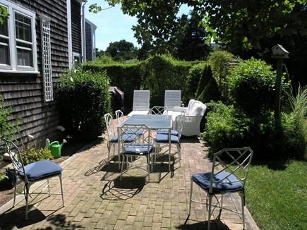 Mid-island, Naushop Nantucket vacation rental - Back Patio