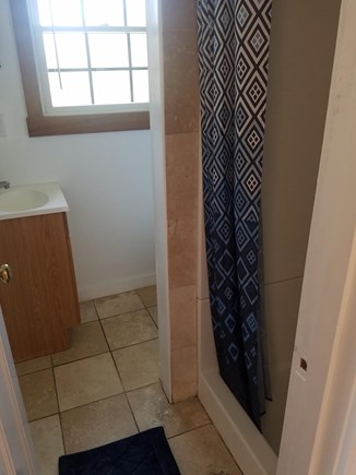 Surfside, Nantucket Nantucket vacation rental - Travertine tiled bath, (or why not try the outside shower).