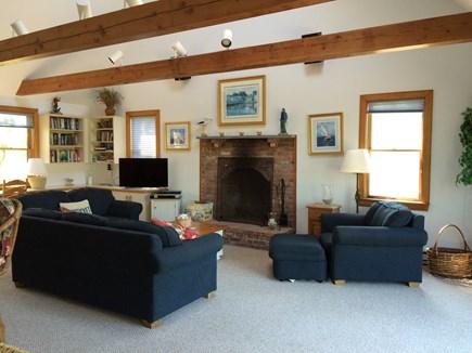 Madaket, Nantucket Nantucket vacation rental - Spacious living room with fireplace