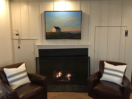 Nantucket town Nantucket vacation rental - Cozy reading and chatting in 4 leather, swivel chairs.