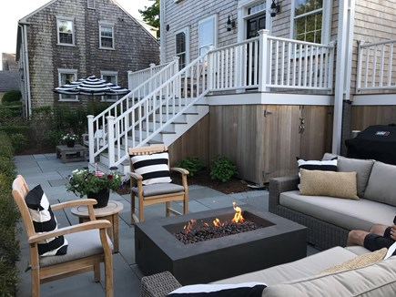 Nantucket town Nantucket vacation rental - Patio with firepit, couch and BBQ