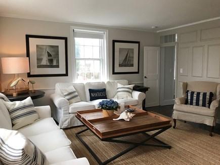 "Nantucket town Nantucket vacation rental - Stunning living room with 75"" flat screen TV"
