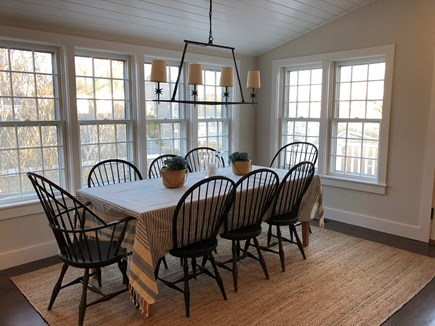 Nantucket town Nantucket vacation rental - A light filled dining area adjacent to the kitchen/family room.