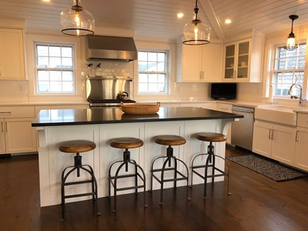 Nantucket town Nantucket vacation rental - Brand new, sparkling kitchen with Wolfe range and all amenities.