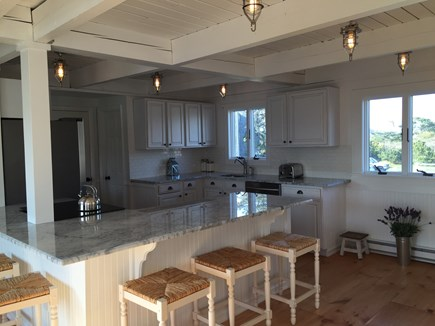 Madaket Nantucket vacation rental - New light-filled open concept kitchen with island seating for 5