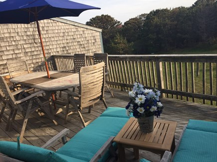 Madaket Nantucket vacation rental - Outdoor chaise lounges on 2nd floor deck
