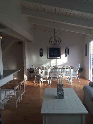 Madaket Nantucket vacation rental - Open living space on 2nd level with large sliders to deck