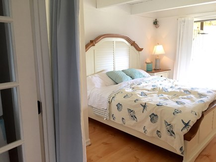 Madaket Nantucket vacation rental - King bedroom on 1st floor with sliders to 1st floor deck