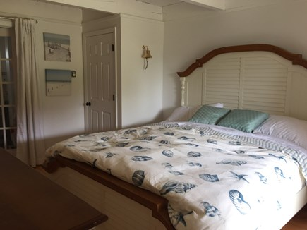 Madaket Nantucket vacation rental - King guestroom with sliders to deck