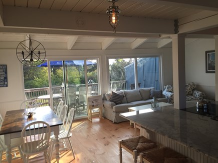 Madaket Nantucket vacation rental - Open living space with large sliders to deck