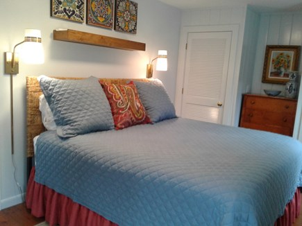Siasconset Nantucket vacation rental - 1st floor Guest Bedroom has a king bed and new mattress.