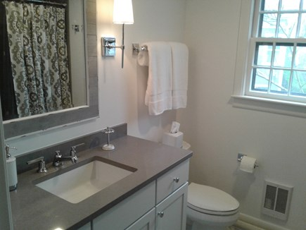 Siasconset Nantucket vacation rental - Complete remodel of Guest Bath with soaking tub/shower combo.