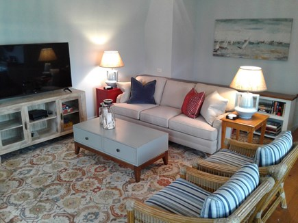 Siasconset Nantucket vacation rental - Fabrics are family-friendly indoor/outdoor, so no worries.