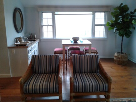 Siasconset Nantucket vacation rental - Ocean view from picture window.  Wet bar area with pub seating.